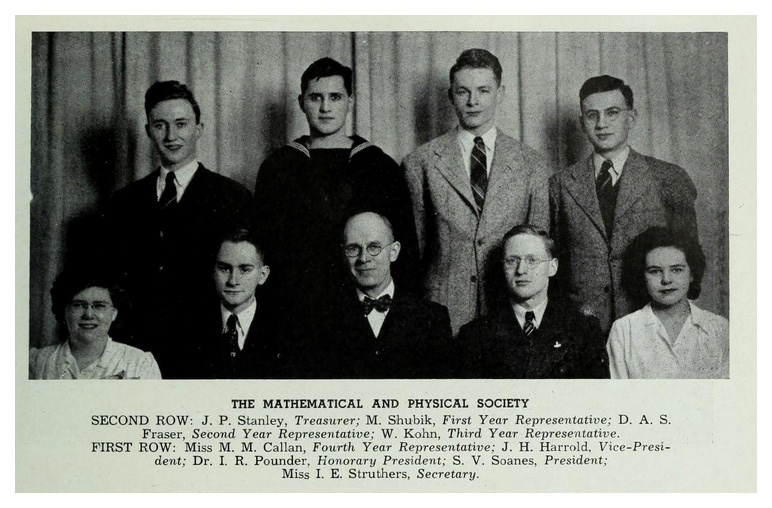 Group photo including DAS Fraser, founding department chair