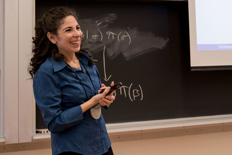Elizabeth Schifano gives a talk