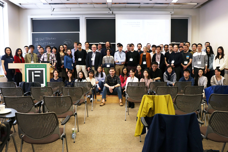 group photo at research day 2019