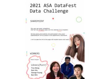 Image of presentation cover for one of the DataFest student teams