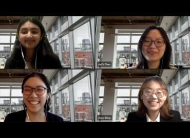 Four act sci students on a Zoom call