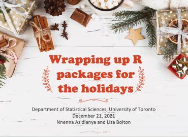 Wrapping Up R workshop slide